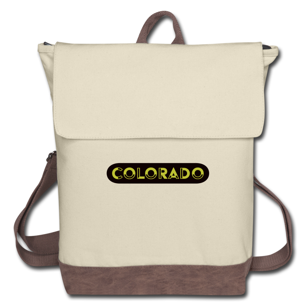 Colorado Canvas Backpack - ivory/brown