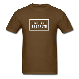 Embrace the truth Unisex Classic T-Shirt - brown