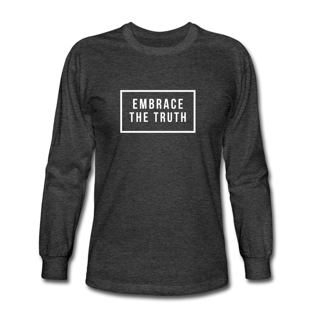 Embrace the truth Long Sleeve T-Shirt - heather black