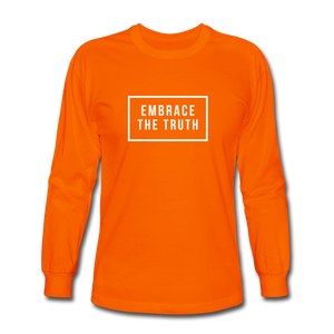 Embrace the truth Long Sleeve T-Shirt - orange