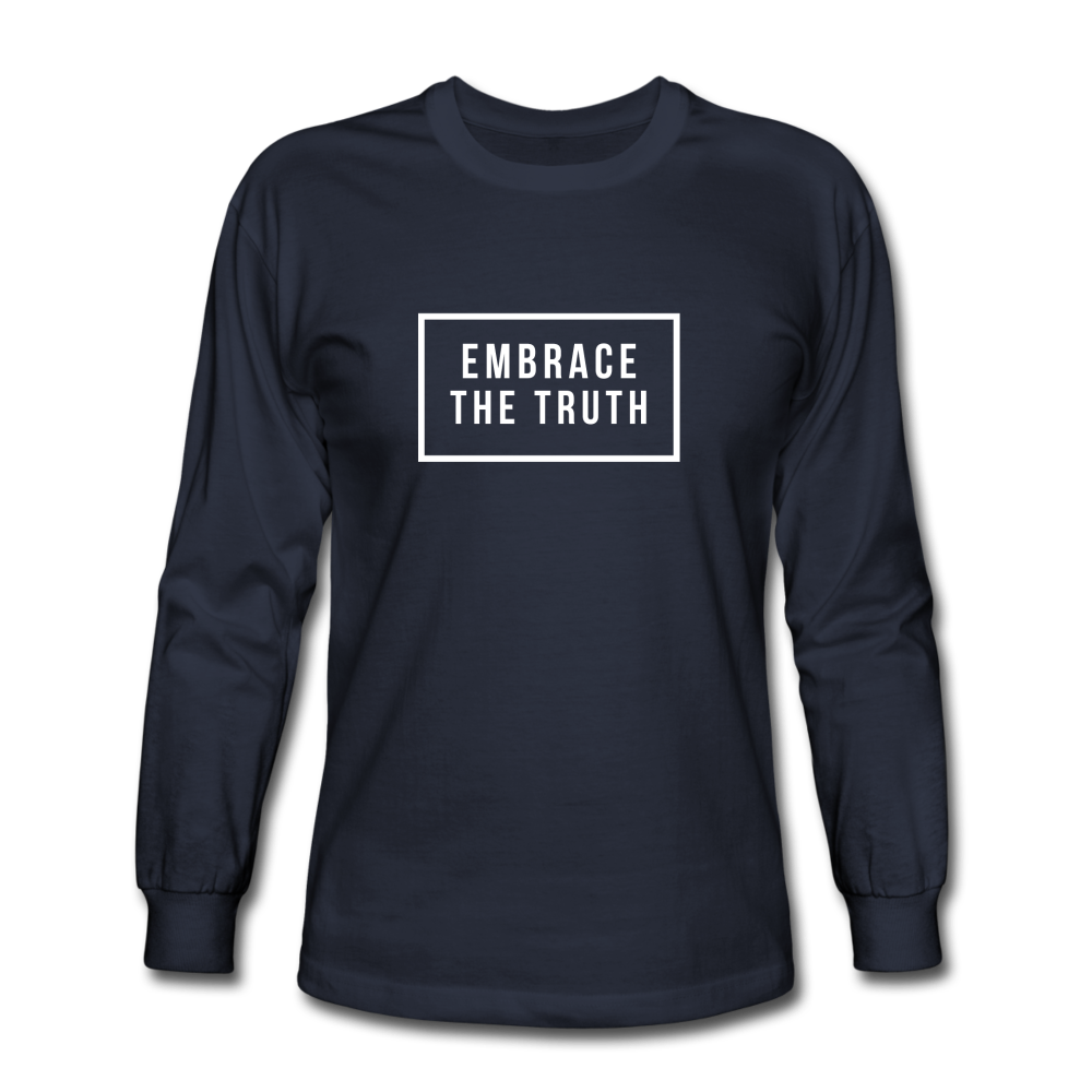 Embrace the truth Long Sleeve T-Shirt - navy