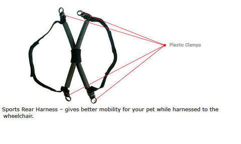 dog wheelchair sports rear harness