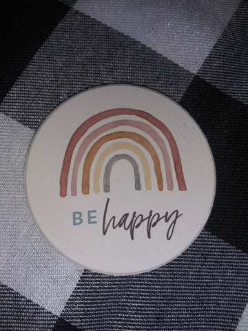 Be Happy Car Coaster