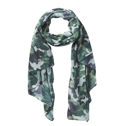 Green Camo Insect Shield Scarf