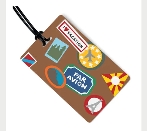 I Heart Travel Bag Tag