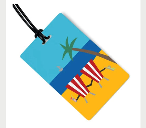 Tropical Getaway Bag Tag