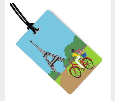 Eiffel Tower Bag Tag