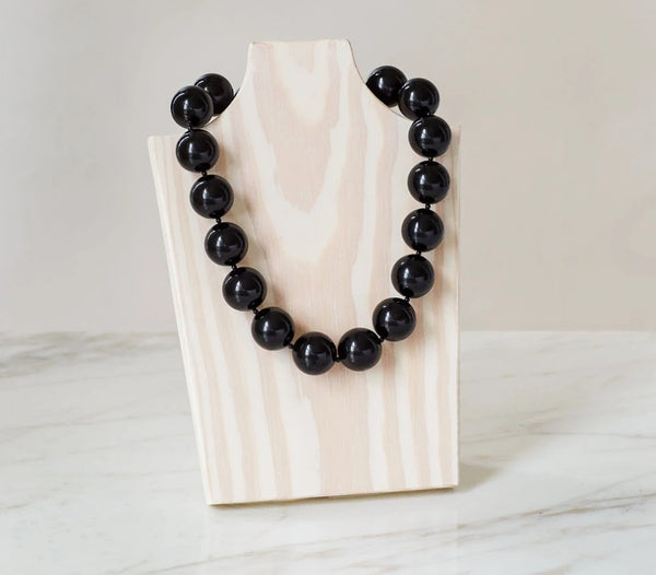Black Ice Pearl Necklace
