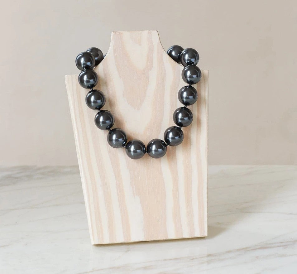 "Sterling Grey 16"" Pearl Necklace"