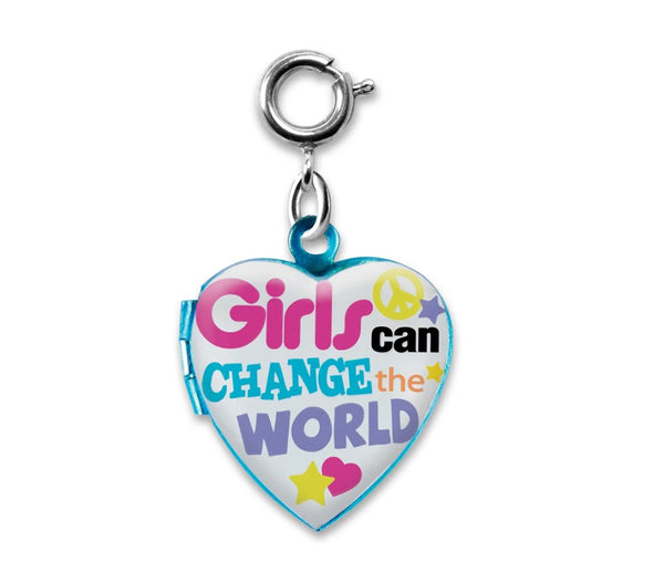 Girls Can Change The World Charm