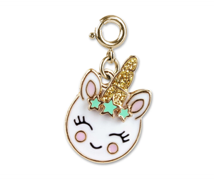 Gold Unicorn Smiley Charm