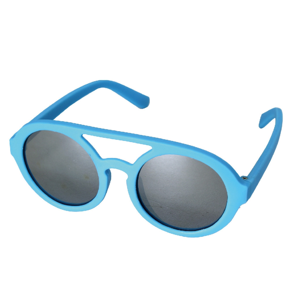 Two Bridge Mirror Blue Kids Sunglasses