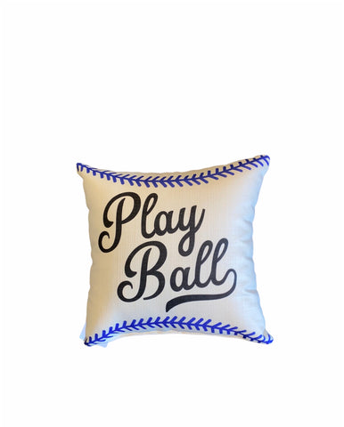 Blue Play Ball Pillow
