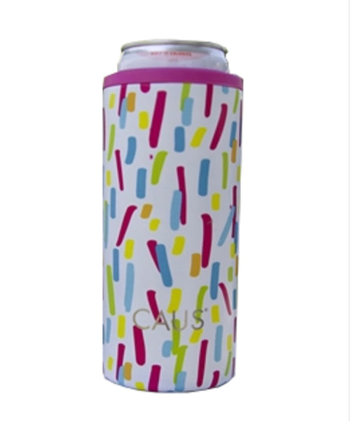 Paint Splash Skinny Can Cooler, Make A Wish