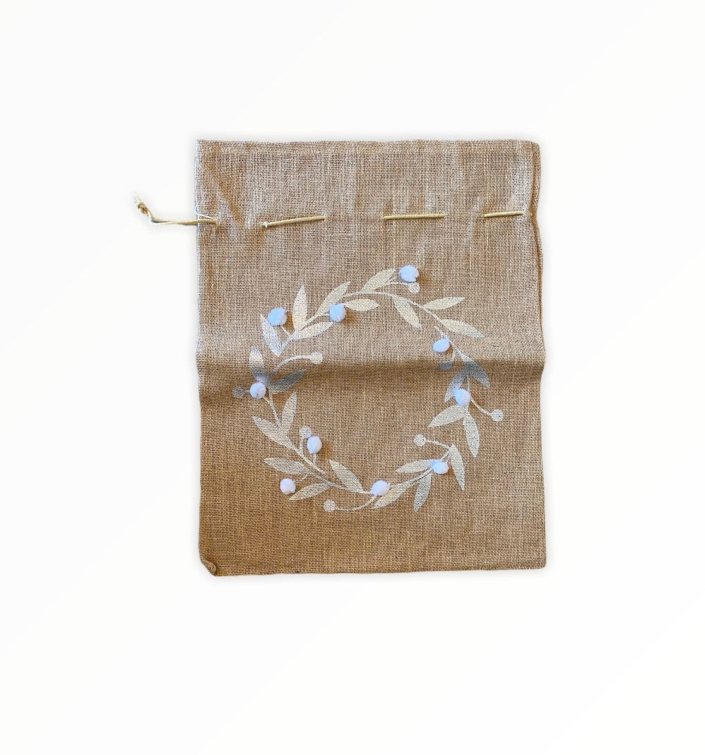 Wreath Burlap Gift Bag