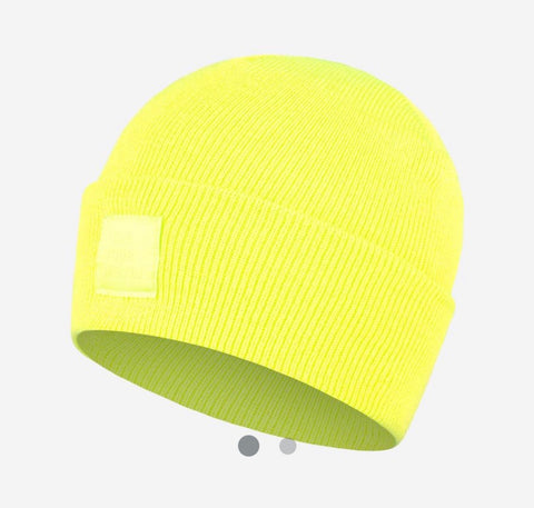 Safety Yellow Classic Cuffed Beanie