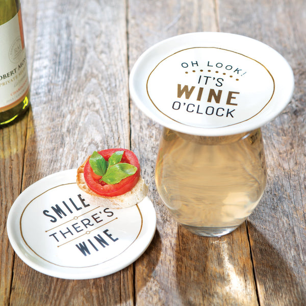 Wine O'Clock Appetizer Plates (Set of 2)