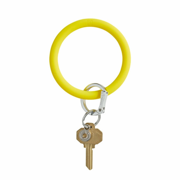 Yellow Silicone Key Ring