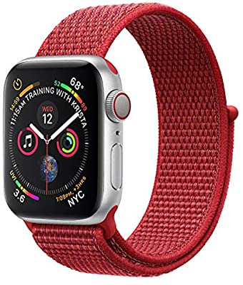 Red Nylon Elastic Strap for Apple Watch All Series - Case Monkey