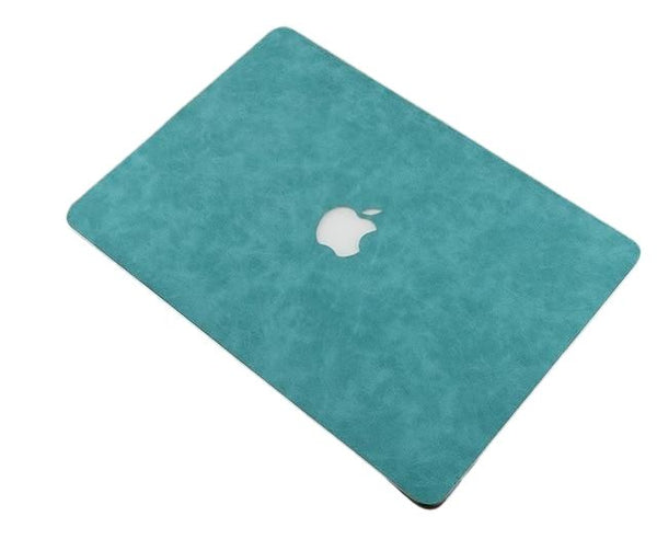 PU Leather Cover Case For Apple MacBook - Black, Blue, Green, Red - Case Monkey