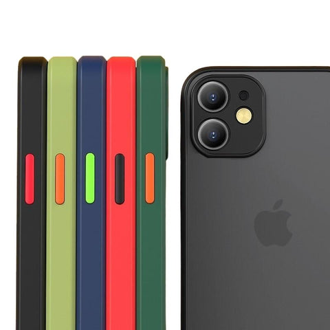 Shockproof Matte Silicone Bumper Phone Case For iPhone - Case Monkey