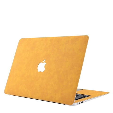 PU Leather Cover Case For Apple MacBook - Brown, Yellow, Pink, Dark Grey, Grey - Case Monkey