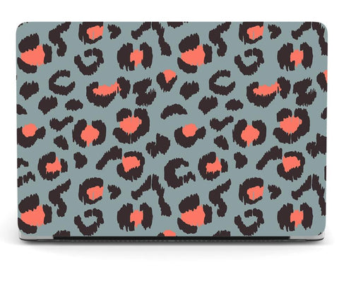 Blue & Pink Leopard Print Cover For Apple MacBook - Case Monkey