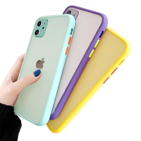 Matte Texture Bumper Protection Phone Case For iPhone - Case Monkey