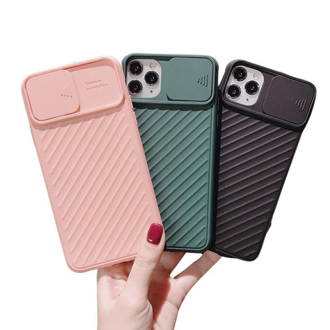 Shockproof Sliding Camera Protector Phone Case For iPhone - Case Monkey