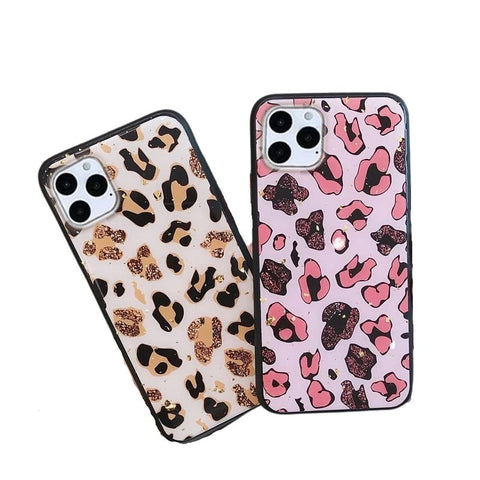 Leopard Glitter Animal Print Phone Case for iPhone - Case Monkey