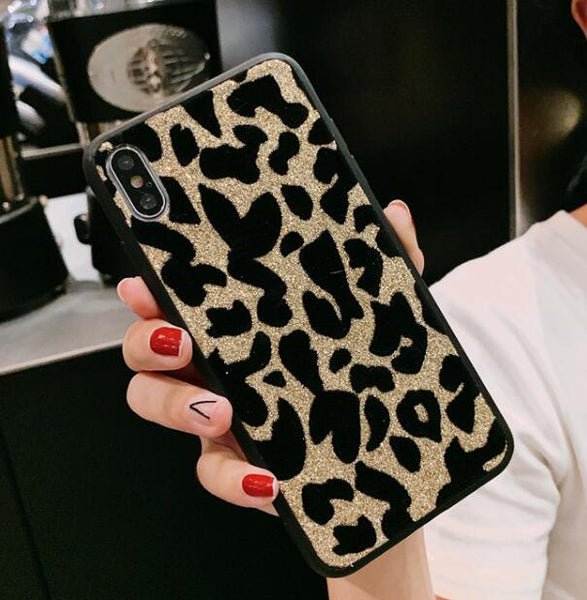 Gold Glitter Leopard Phone Case For Samsung - Case Monkey