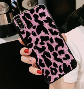 Pink Glitter Leopard Phone Case For Samsung - Case Monkey