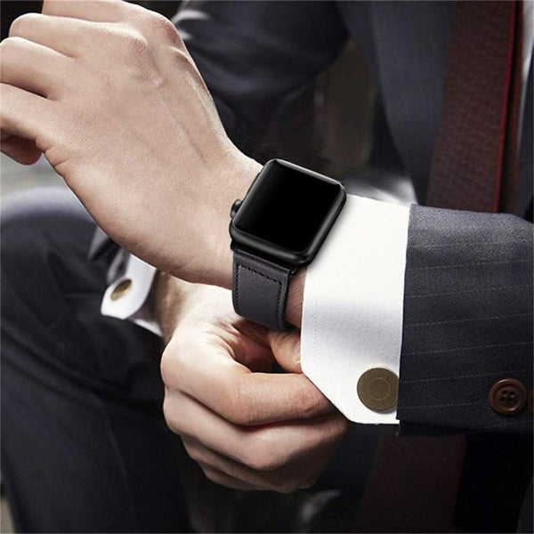 100% Genuine Leather Strap for Apple Watch - Case Monkey