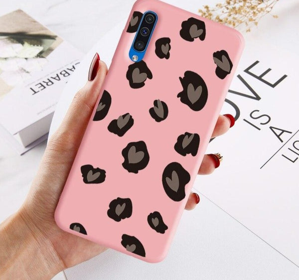 Leopard Print Heart Phone Cover - Case Monkey