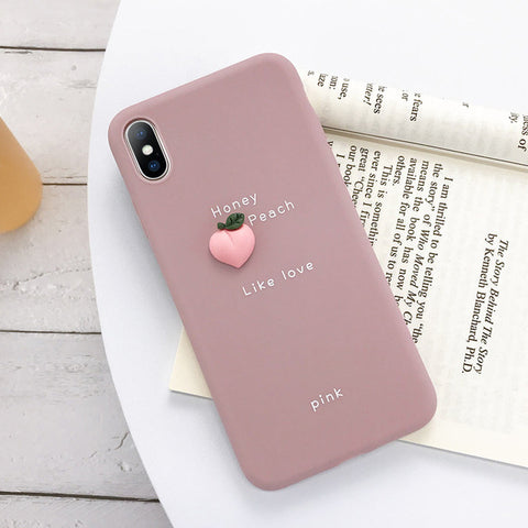 3D Fruit Peach Phone Case - Case Monkey