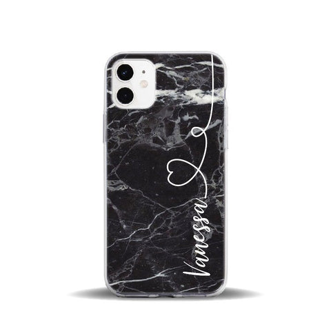 Personalised Black Marble Phone Case - Case Monkey