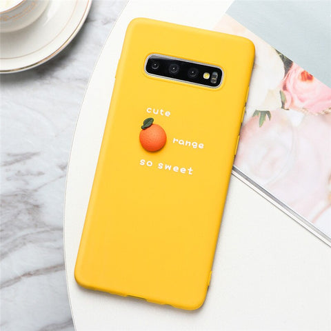 3D Fruit Orange Silicone Case - Case Monkey