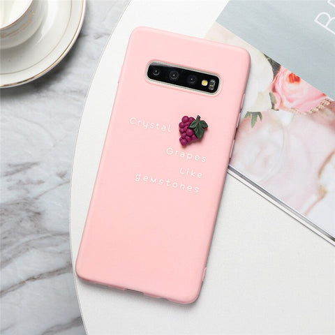 3D Fruit Grapes Phone Case in Pink - Case Monkey