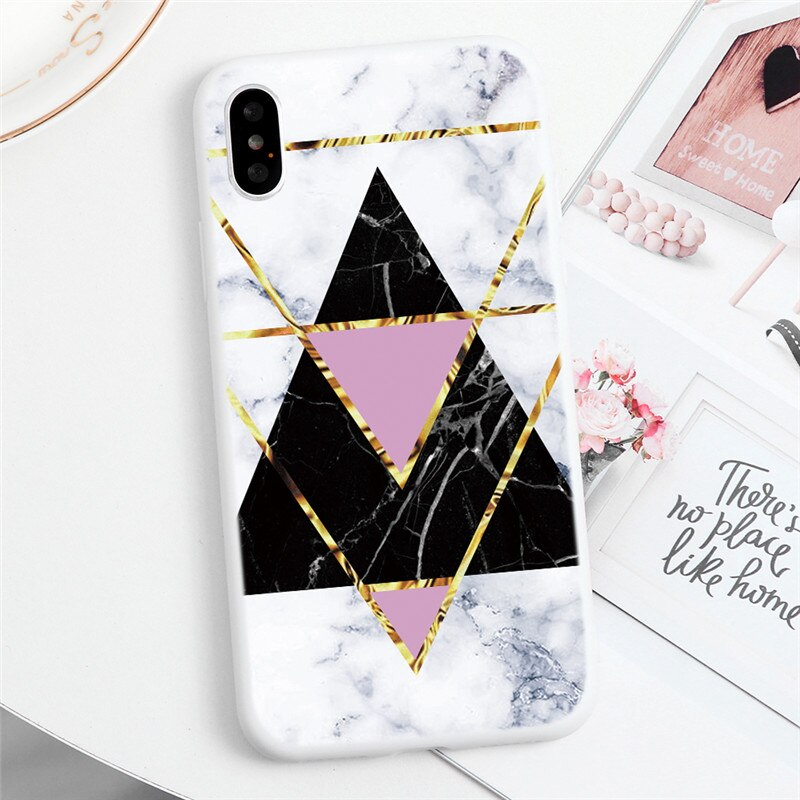 Geometric Marble Look Phone Case - Case Monkey