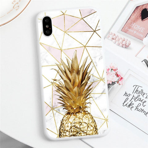 Marble Pineapple Phone Case - Case Monkey