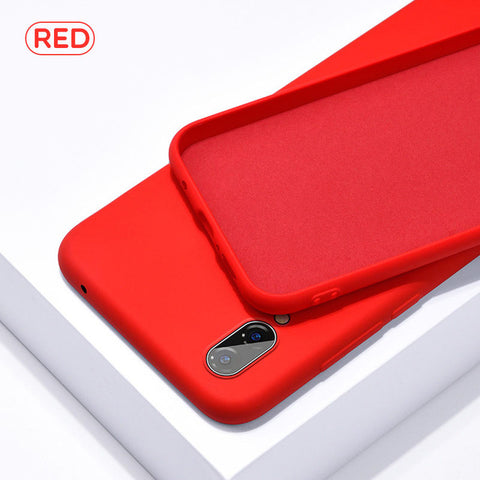 Soft Red Silicone Phone Case for Huawei - Case Monkey