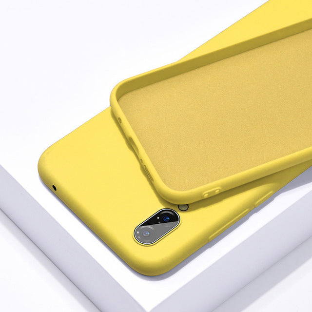 Soft Yellow Silicone Phone Case for Huawei - Case Monkey