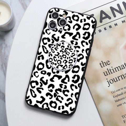 Small Leopard Print Stand Phone Case For Huawei - Case Monkey