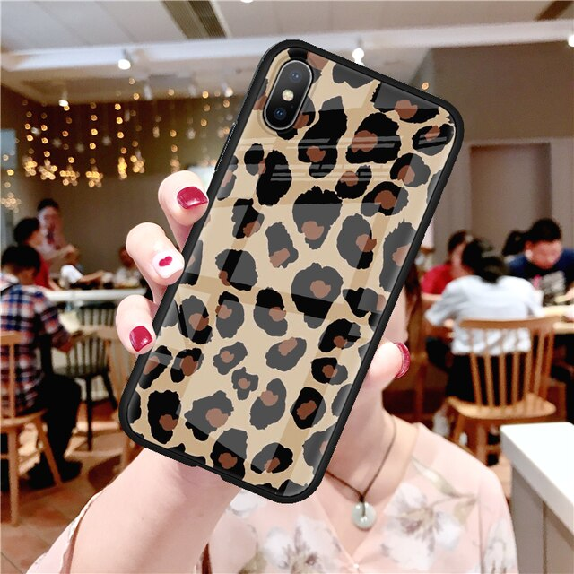 Tempered Glass Original Leopard Print Phone Case For iPhone - Case Monkey