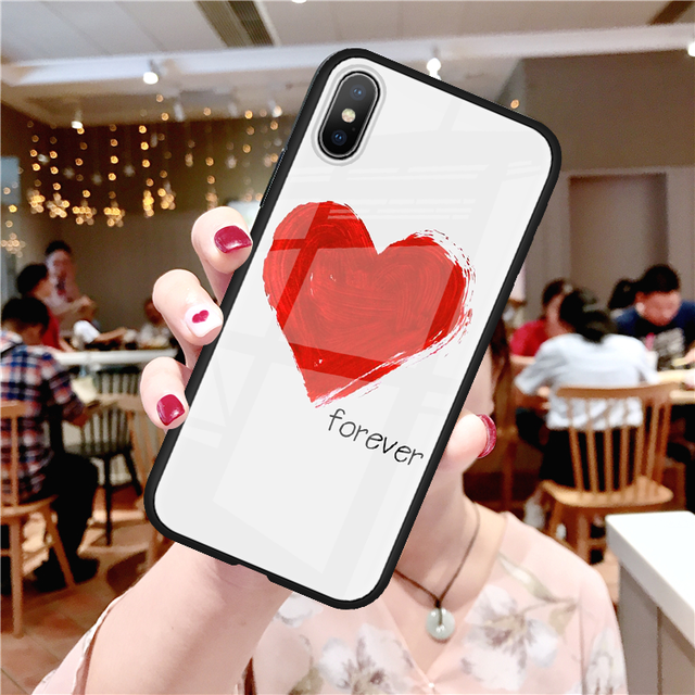 Red Heart Tempered Glass Phone Case For iPhone - Case Monkey