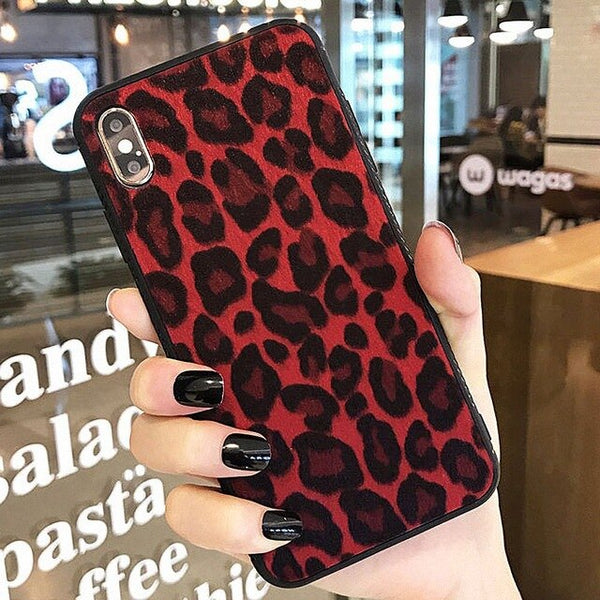 Luxury Plush Leopard Print Phone Cases for Huawei - Case Monkey
