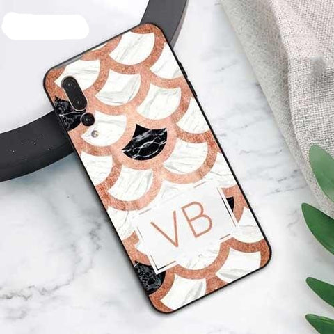 Personalised Marble White & Rose Gold Phone Case for Huawei - Case Monkey