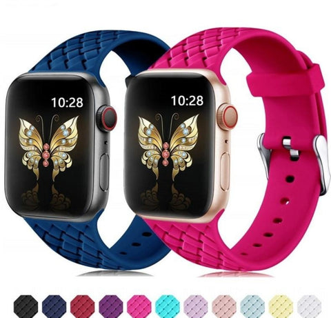 Woven Pattern Silicone Strap for Apple Watch - Case Monkey