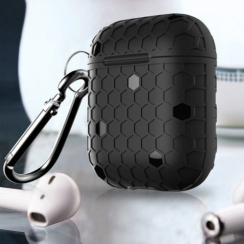 Grid Silicone Cover For Apple Airpods - Case Monkey