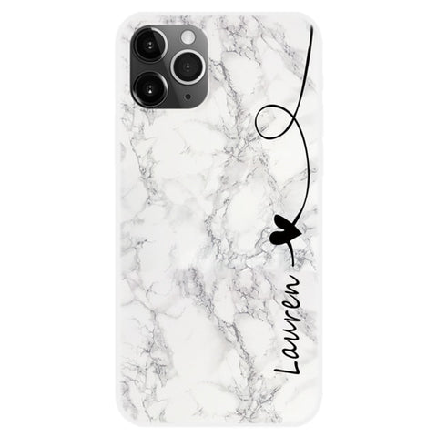 Personalised Black & White Marble Phone Case For iPhone - Case Monkey
